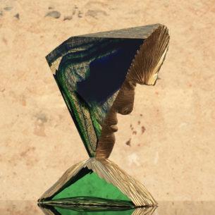 Golden Glass Sculpture