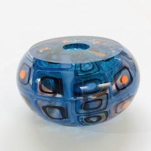 Handmade Blue Glass Sculpture
