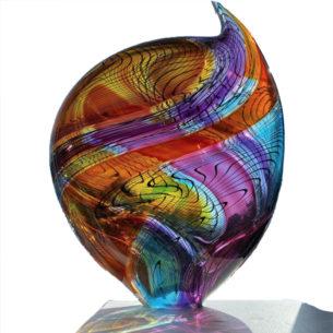 Modern Glass Art Sculpture
