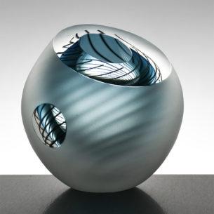 Contemporary Glass Art Bowl