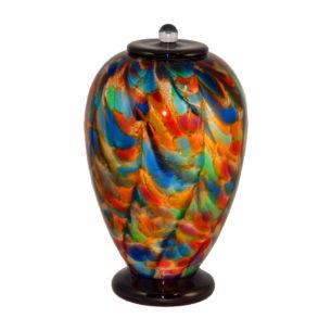 Decorative Glass Urn