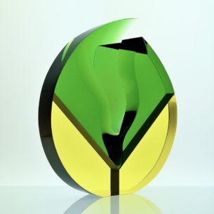 Modern Optical Glass Sculpture