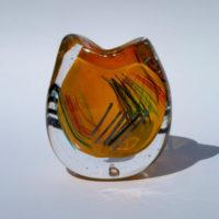Orange Glass Vessel