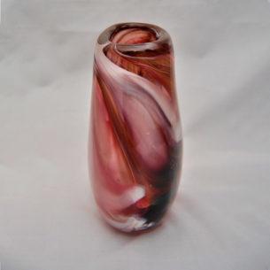 Burgundy Glass Vase