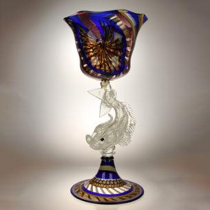 Large Art Glass Vessel