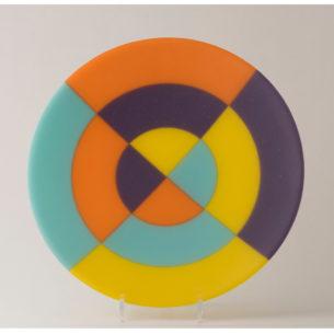 Coloured Glass Plates
