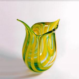 Colourful Art Glass Vase
