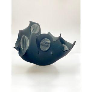 Grey Glass Bowl