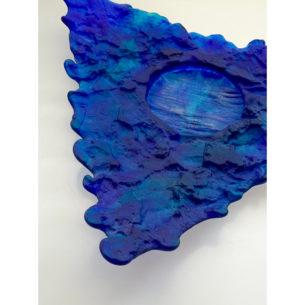 Triangular Glass Platters