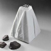 White Cast Glass Sculpture
