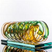 Abstract Glass Art Sculpture