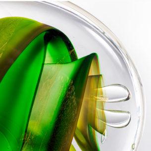 Abstract Glass Art Sculptures