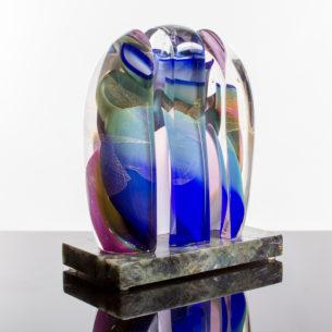 Abstract Glass Artwork Sculpture