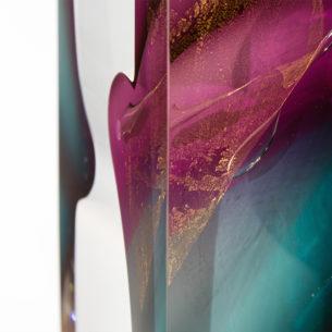 Modern Abstract Glass Sculpture
